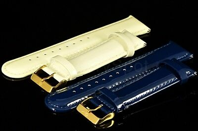 Invicta 26mm Top Grain Genuine Leather 18K GoldTone Buckle Replacement Strap NEW