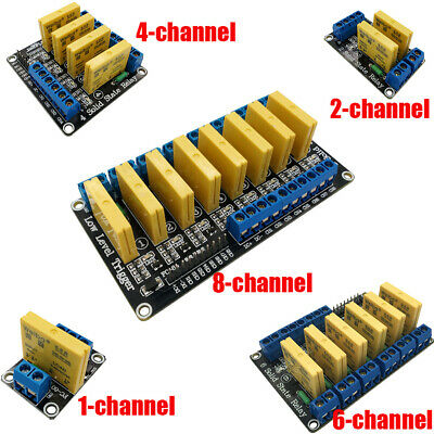 5V 12V 24V 1/2/4/6/8Channel DC-DC Solid State Relay Module Low Level For Arduino