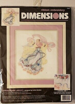 Dimensions: Ribbon Embroidery Kit - Springtime Angel #1502 by Laine Gordon
