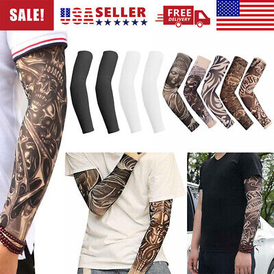 5 pcs Tattoo Cooling Arm Sleeves Cover UV Sun Protection Unisex Outdoor Sport US