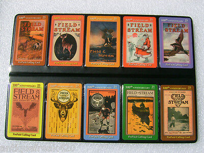 Field And Stream Centennial Series 1895-1995 Limited Edition Phone Cards-Rare