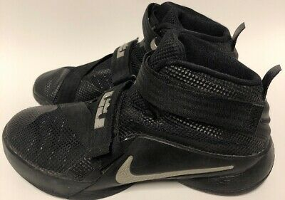 huge discount 3055b 2121d NIKE LEBRON JAMES Soldier 9 Shoe Size 3Y Black On Black 2015