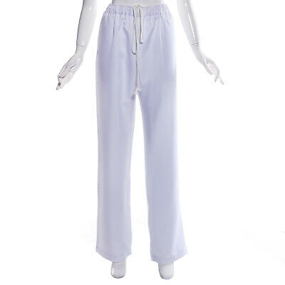 """White Chefs Chef Caterers Cooks Trousers Pants Elasticated Waist 34""""-40"""""""