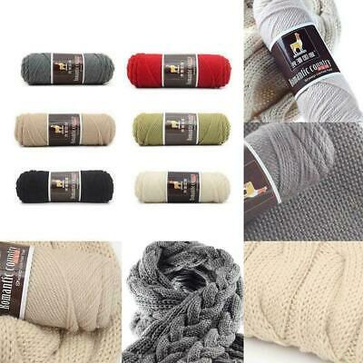 100g Alpaca Wool Medium Thickness Yarn Soft Worsted knitting Crochet Thread D8K4