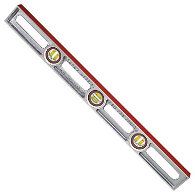 Sands Level /& Tool SLASE24T Professional Straightedge//Ruler 24-Inch x 2-Inch x 3//16-Inch Silver Kraft Tool