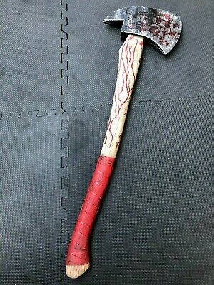 Bloody Fireman's Fire Axe Hatchet Pu Movie Prop Clown Weapon Halloween Pick Axe