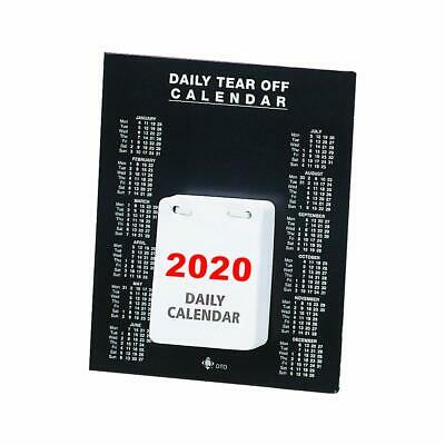 2020 Daily Tear Off Desktop Calendar Diary 150 x 185mm Day Date Per Page KFDTO20