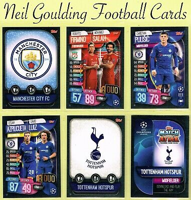 Champions League MATCH ATTAX 2019/2020 ☆ Football Cards ☆ #1 to #72 [UK]