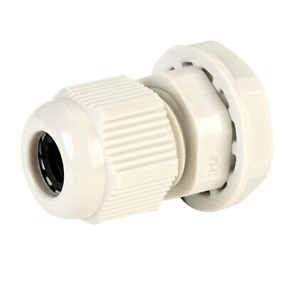 5x Unistrand PG7 Dome Cable Clamp Off-white