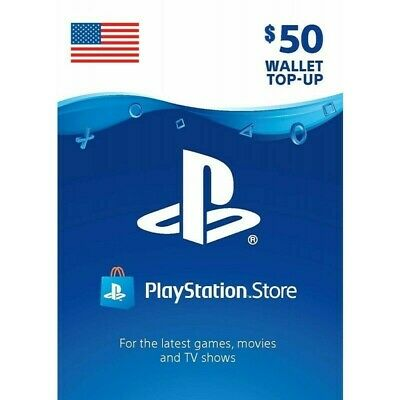 Sony Playstation Network PSN USD 50 Dollar Code PS4 PS3