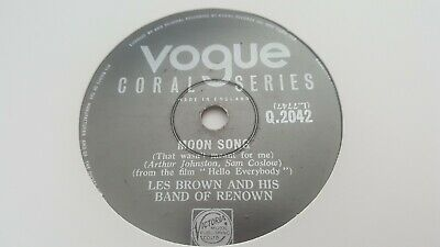 Les Brown And His Band Of Renown Moon Song & St Louis Blues Mambo Coral Q2042