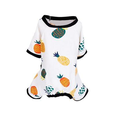 Embroidery Cat Dog Pajamas Cotton Small Pet Clothes Jumpsuit Good Puppy App O3J7