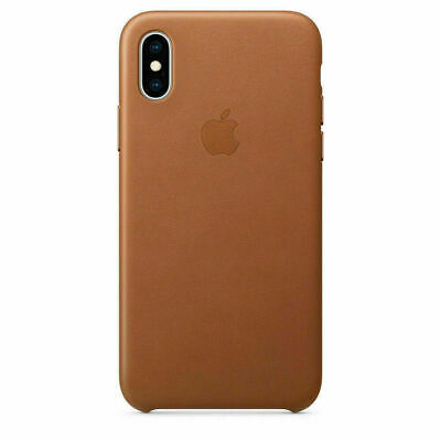 Original Apple iPhone X Leather Case Leder Hülle iPhone X Original Sattelbraun