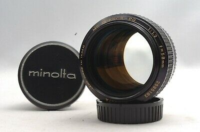 @Ship in 24 Hrs@ Early Version & Excellent @ Minolta MC Rokkor-PG 58mm f1.2 Lens