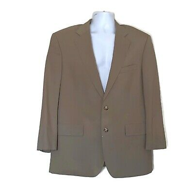 Brooks Brothers 43R Blazer Brookease Tan Wool Men's Sport Coat Jacket