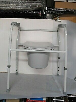 Adult Tolet Seat Potty Chair Bedside Commode Large Adjustable Lumex Brand