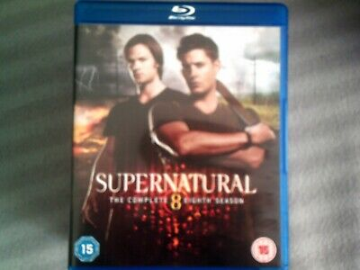 Supernatural The Complete Eighth Season*Series Eight (8)*Blu Ray*Tv*4 Disc*