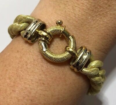 ⚜️ 14k Yellow Gold Curb Miami Link Toggle Wheat Wide Cuban Byzantine Bracelet 7""