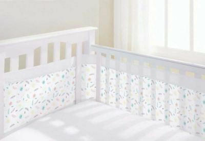 Breathable Baby MESH AIRFLOW COT LINER MARABOU Soft Padded Easy Design BN