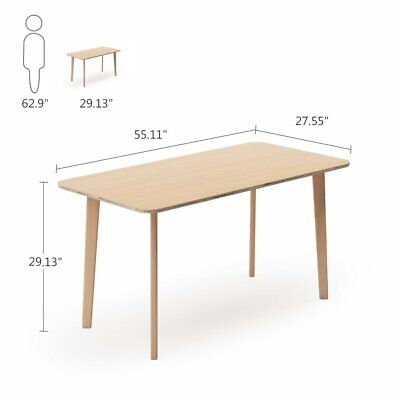 Compressed Mid- Century Dining Table Solid Wood Legs Kitchen Breakfast Furniture