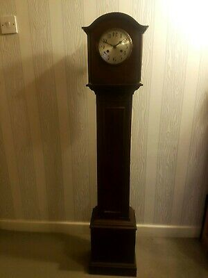 A Small German Antique Grandfather Clock Arts & Crafts Art Nouveau period etc