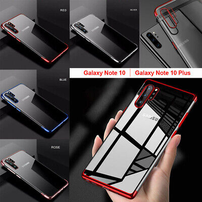 Plating Bumper Case For Samsung Galaxy Note 10 Plus Clear TPU Silicone Cover UK
