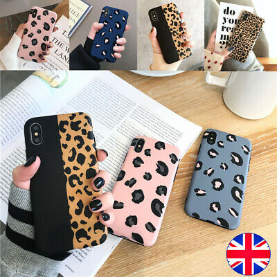 Case For iPhone 11 8 7 Plus XR XS Max X Leopard Print Soft Silicone Phone Cover