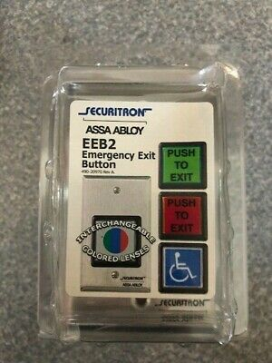 SECURITRON EEB2 EMERGENCY EXIT BUTTON W//30 SECOND TIMER FACTORY NEW