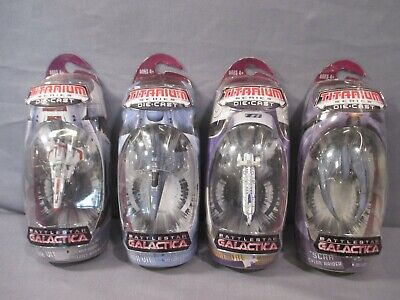 Battlestar Galactica COLONIAL ONE VIPER CYLON RAIDER Lot Titanium Series