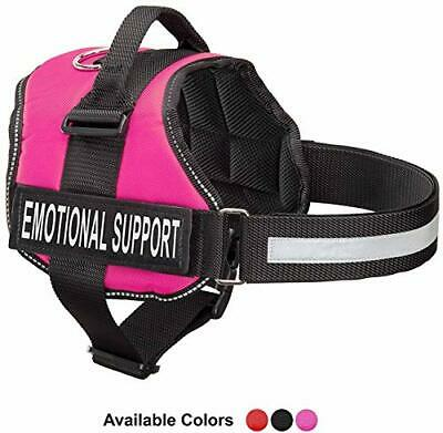 """Emotional Support Dog Vest Harness With (Large, Fits Girth 27-33.5""""