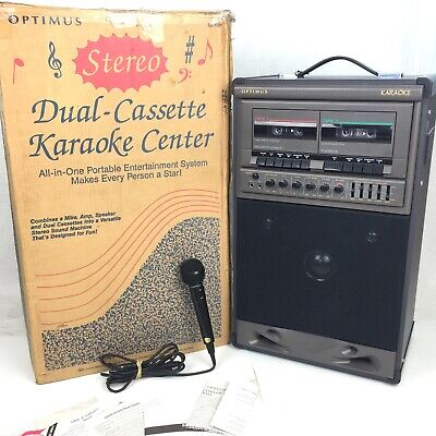Optimus Karaoke Machine 🎤 Ready to Play All Accessories Included Vintage Retro