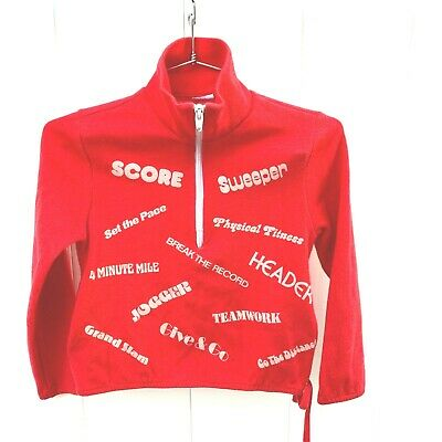 "VTG 1970s Suntogs Groovy Childs Sweatshirt Red 32"" chest P.E. Sports Graphics"
