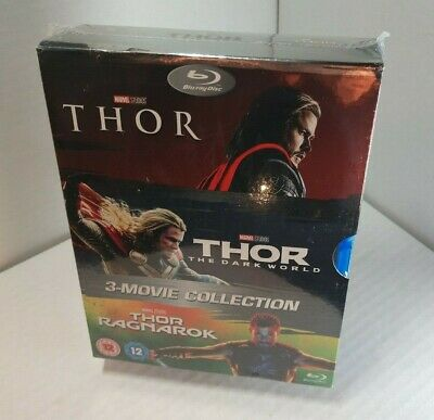 THOR 3-Movie Collection (Blu-ray Boxset)Slipcover - NEW (Sealed)-Free Shipping