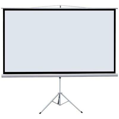 "100"" Portable Projector Screen with Stand Tripod Indoor Outdoor 16:9"