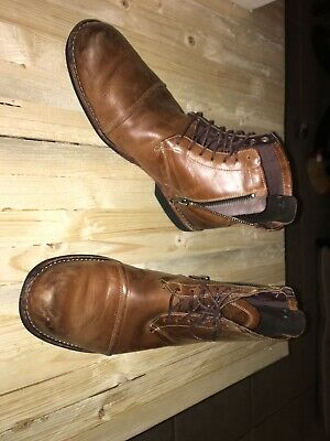 TIMBERLAND EARTHKEEPERS CITY 19558 Brown Leather 7 Eye Boot