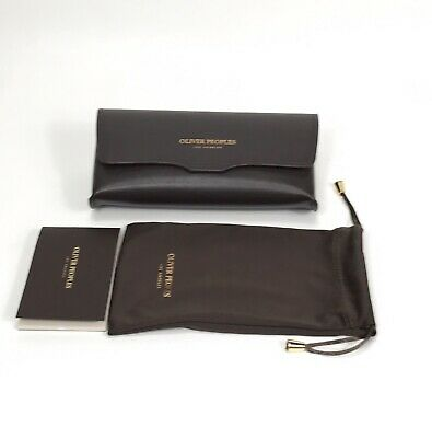 OLIVER PEOPLES Authentic Sunglasses Eyeglasses Case & Pouch - Brown