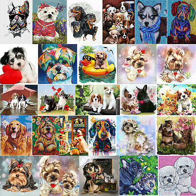 5D DIY Puppy Dogs Diamond Painting Full Drill Embroidery Cross Stitch Home Decor