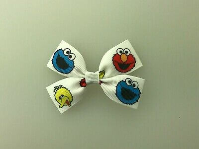 Elmo Big Bird Cookie Monster Sesame Street Hair Bow with Alligator Clip
