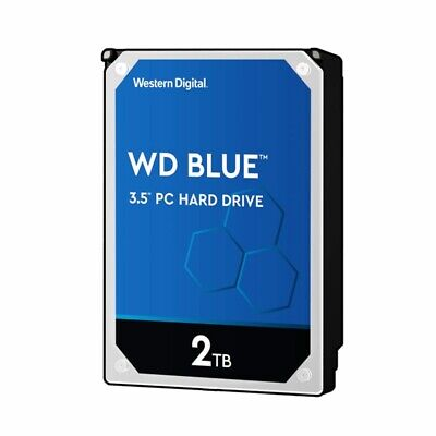 "WD Blue 2TB PC Hard Disk Drive Western Digital Blue 5400RPM 3.5"" SATA HDD"