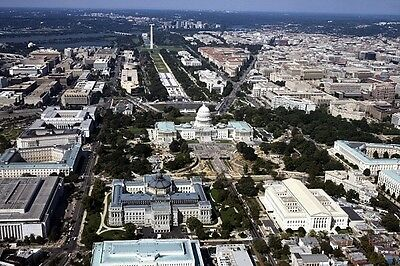 New 5x7 Photo: Aerial View of United States Capitol & Beyond, Washington, D.C.