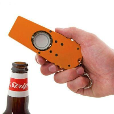 Creative Bottle Beer Opener Tool Bar Game Toy Flying Cap Launcher Key Ring Chain