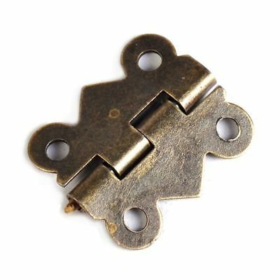 20/40 20x17mm with Screws Antique Brass Jewelry Box Hinge Butterfly Small Hinge