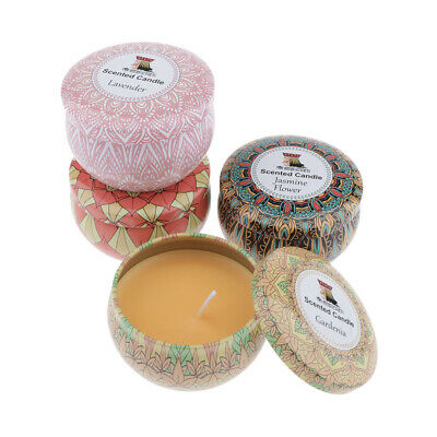 4pcs National Style Tin Scented Fragrant Handmade Candle Various Scents 70g