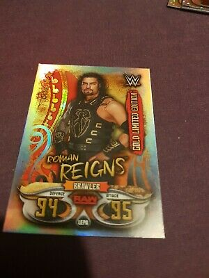 wwe slam attax live Roman Reigns Gold limited edition