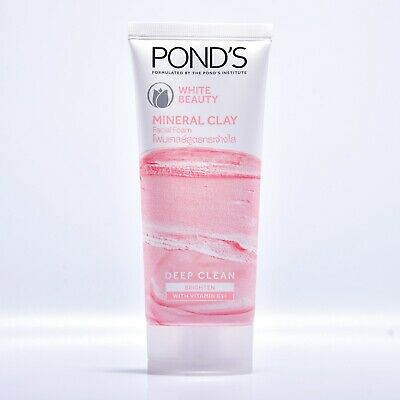90g POND'S WHITE BEAUTY MINERAL CLAY FACIAL FOAM DEEP CLEAN BRIGHTEN WHITHENING