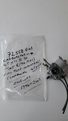 Ezgo Carburetor 72558 G01 4 cycle II 90 Jet Pre Mci 1994-2003 e-z-go carburettor