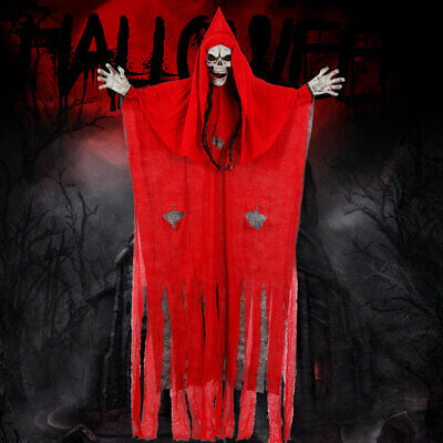 Halloween Decorations Hanging Ghost Witch Decora Horror Scary Props -190CM Red