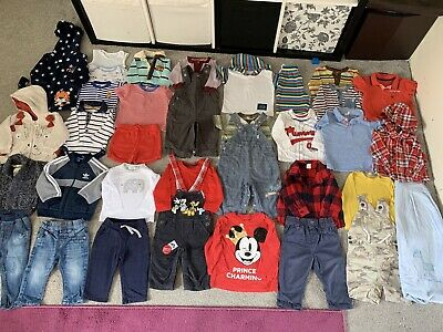 Huge Baby Boys 6-9 Months Clothes Bundle Adidas John Lewis Mickey Mouse Disney