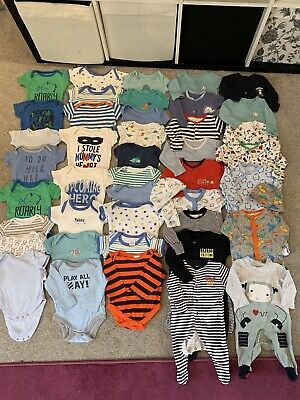 Baby Boys Newborn / 0-3 Months Vests , Sleepsuits , Babygrows Clothes Bundle