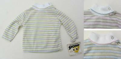 6 months to a year vintage tops striped polo neck NWT's ski skins 70's